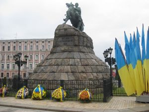 Monument to the murderous pogromist Bhodan Khmelneytsky in Kiev