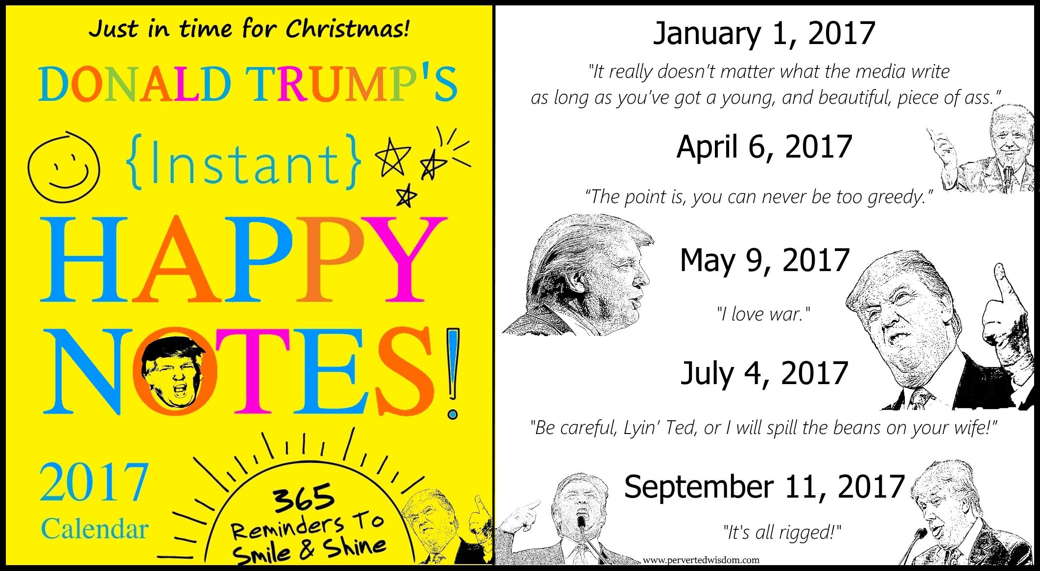 2017 desk calendar of inspirational trump quotes